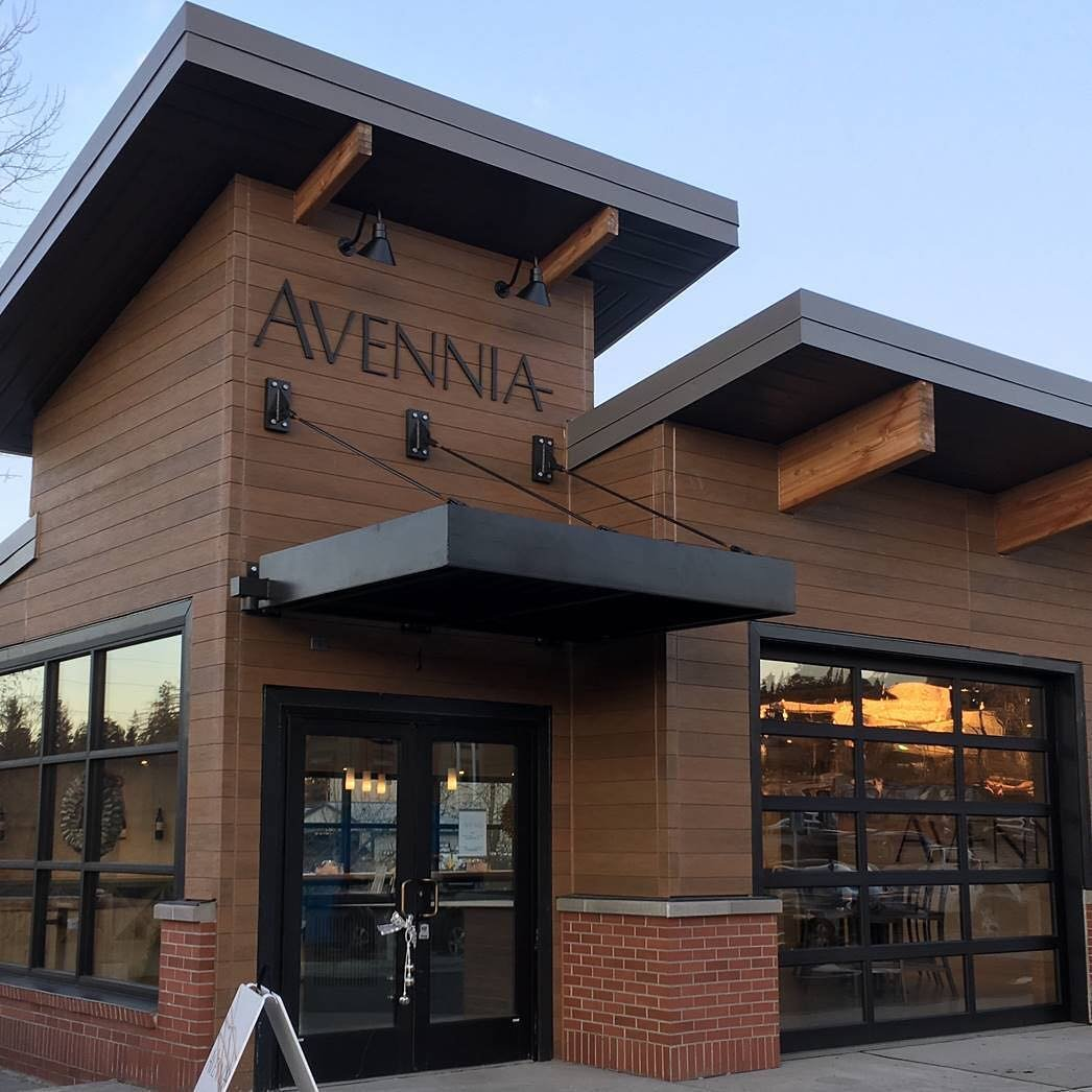 Outside view of the Avennia winery building near Bothell, Washington.