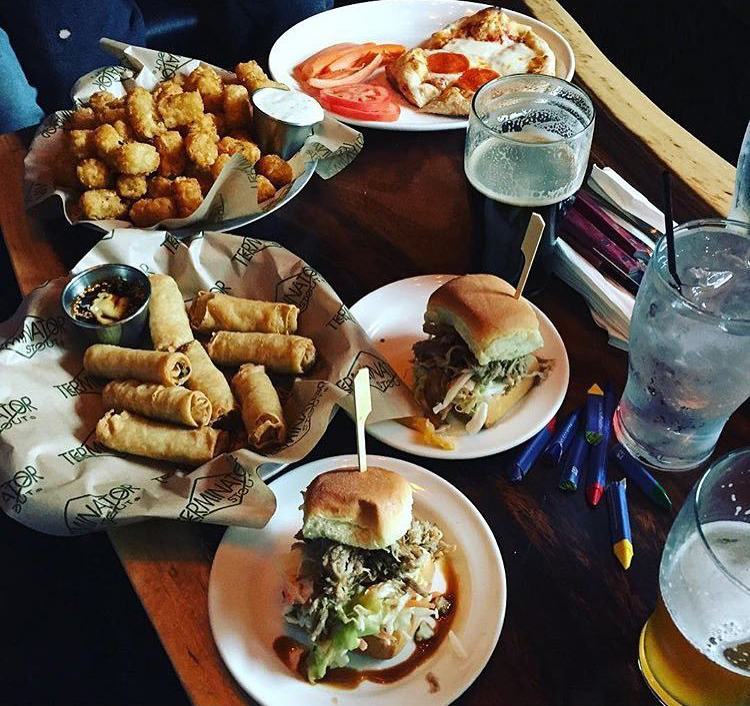 Plates of food from McMenamins Tavern on the Square in Bothell, Washington.