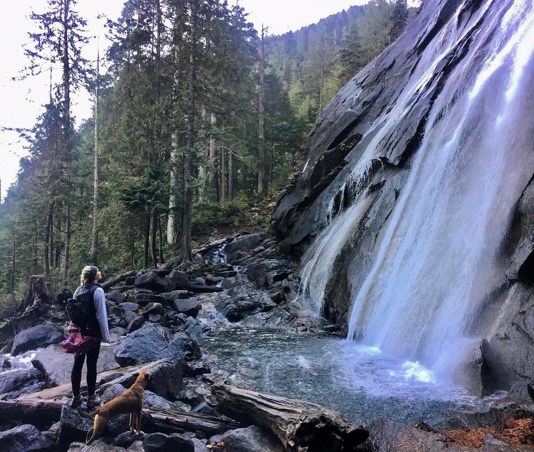 Get outdoors and enjoy the waterfall at Bridal Veil Falls in Bothell, Washington