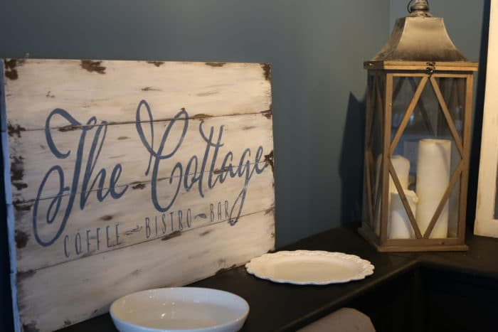The Cottage sign